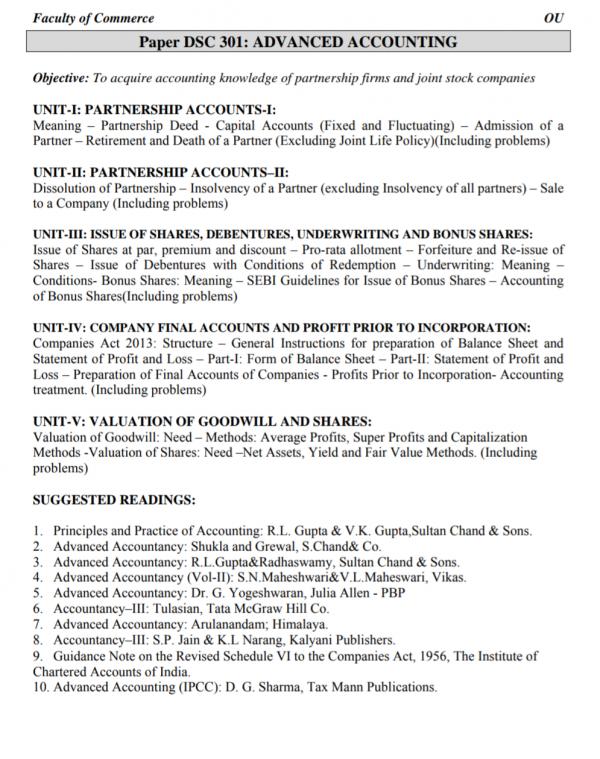 advanced accounting syllabus 2020