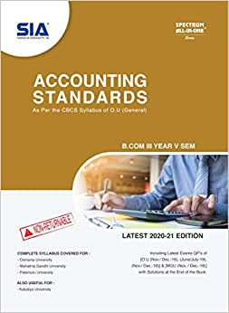 Accounting standards SIA for bcom 2021 ou ourstudys