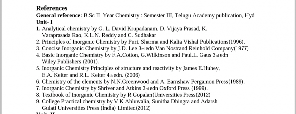 chemistry syllabus books