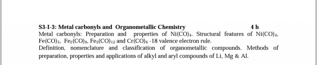 bsc chemistry syllabus 2