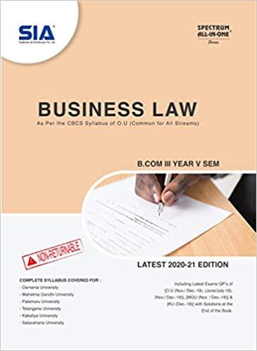 Business law sia 2021 osmania university