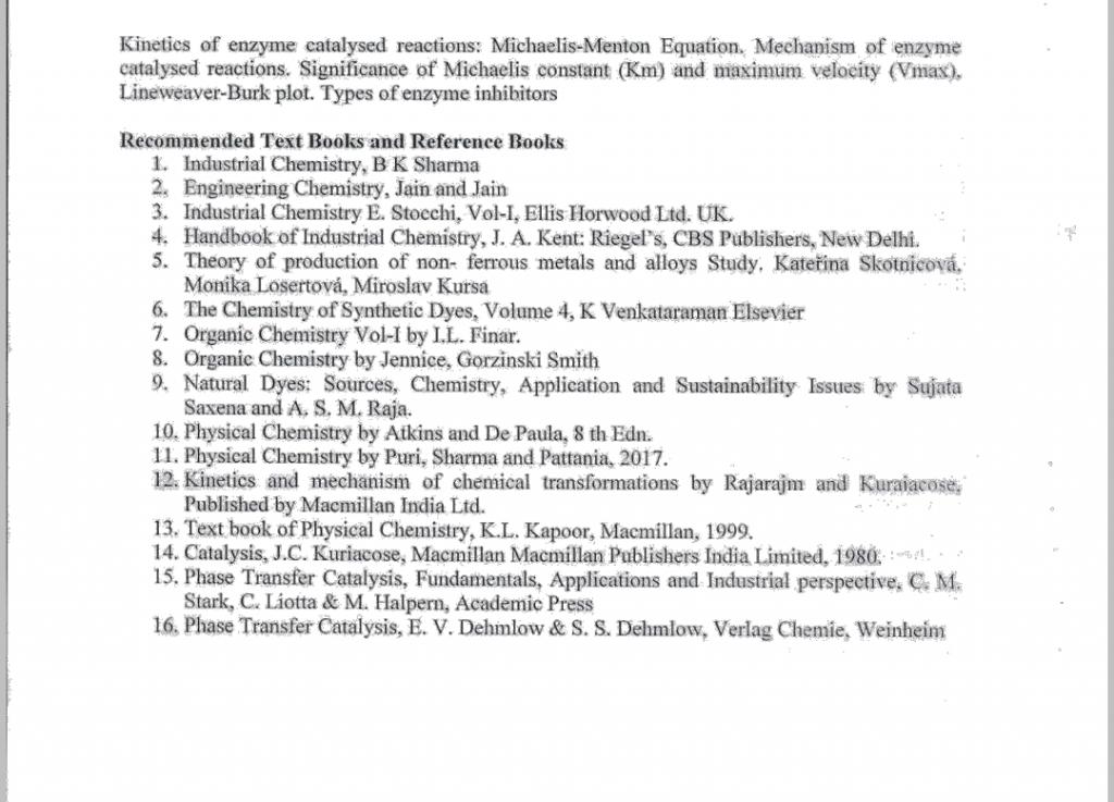 chemistry syllabus ou ourstudys