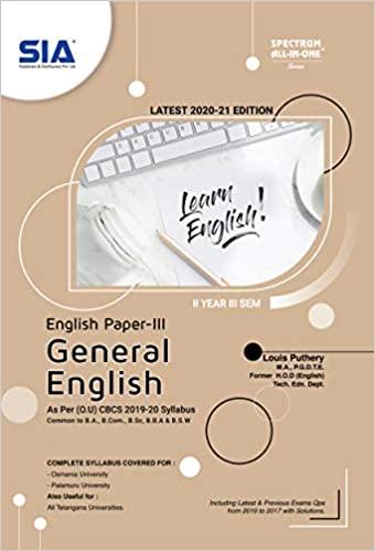 English 3rd sem ou ourstudys