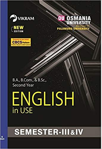 English s3rd sem ou ourstudys