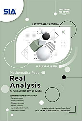 Maths real analysis SIA CBCS ou